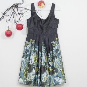 Maurices black floral satin cocktail dress